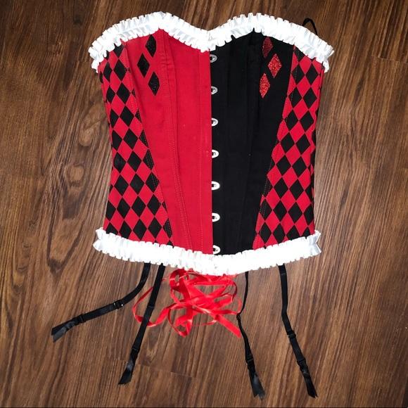 dc comics x undergirl Tops - Harley Quinn corset top Halloween costume piece